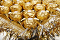 Golden chocolate Royalty Free Stock Images