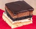 Golden chocolate cake