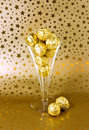 Golden chocolates Royalty Free Stock Photos