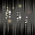 Golden christmas background bright dots on black vector illustration Stock Images
