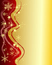 Golden Christmas Background with Stars Royalty Free Stock Photo