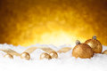 Golden christmas ball isolated on white