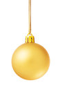 Christmas background with golden ball.