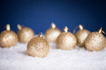 Golden Christmas balls Royalty Free Stock Photos