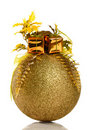 Golden Christmas Bauble Royalty Free Stock Photo