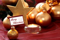 Golden Christmas decorations Royalty Free Stock Image