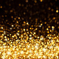 Golden Christmas Lights Background Royalty Free Stock Image