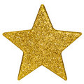 Golden christmas star  Stock Photos