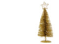 Golden Christmas tree Royalty Free Stock Image