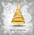 Golden Christmas Tree On Paper Texture Background Royalty Free Stock Photo