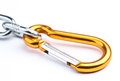 Golden clamp Royalty Free Stock Photo