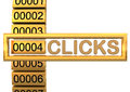 Golden Clicks Royalty Free Stock Images