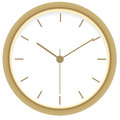 Golden clock. Royalty Free Stock Images
