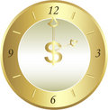 Golden clock Stock Photography
