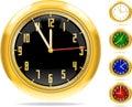 Golden clocks set #1 | Vector.ai 10 Royalty Free Stock Photography
