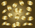 Golden coins Royalty Free Stock Images