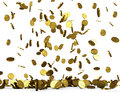 Golden coins rain Royalty Free Stock Photo