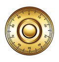 Golden combination dial lock Royalty Free Stock Photos