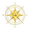 Golden compass rose Royalty Free Stock Photo