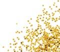 Golden confetti Royalty Free Stock Photo