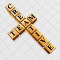 Golden creative team like crossword Royalty Free Stock Photo