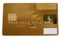 Golden creditcard a blanked for several usages Stock Photography