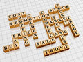 Golden crossword 2 - shopping Royalty Free Stock Photography