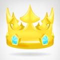 Golden Crown With Diamonds Obj...