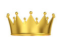 Golden crown isolated on white