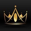 Zlatý koruna označenie organizácie alebo inštitúcie a dizajn
