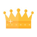 Golden Crown sticker icon flat style. Vector illustration.