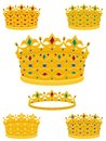 Golden crowns Stock Photo