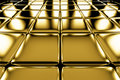 Golden cubes flooring perspective view shiny abstract industrial background Stock Images