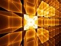 Golden cubic perspective Stock Photos