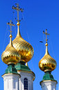 Golden cupolas Royalty Free Stock Photos