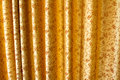 Golden curtain stage in classic style Royalty Free Stock Images