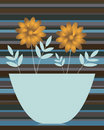 Golden daisies in a vase Stock Photo