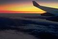 Golden dawn in flight Royalty Free Stock Photo