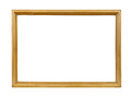 Golden decorative empty picture frame Royalty Free Stock Photo