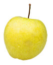 Golden delicious apple isolated on white background Royalty Free Stock Images