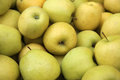 Golden delicious apples fresh at market in trento italy Royalty Free Stock Photo