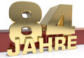 Golden digit eighty four and the word of the year. Translated fr