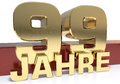Golden digit ninety nine and the word of the year. Translated fr