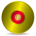 Golden disc record album Royalty Free Stock Photography