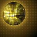 Golden disco ball Royalty Free Stock Image