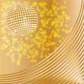 Golden disco ball Royalty Free Stock Photos