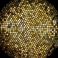 Golden disco ball mosaic background shiny this image is an illustration Royalty Free Stock Photography