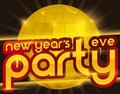Golden Disco Ball for New Year`s Eve Party, Vector Illustration Royalty Free Stock Photo
