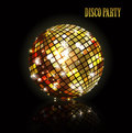 Golden disco ball. Royalty Free Stock Photo