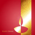 Golden diwali diya vector with space for your text Royalty Free Stock Photography
